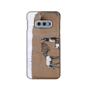 Banksy Washing Zebra Stripes Phone Case Samsung S10e