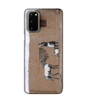 Banksy Washing Zebra Stripes Phone Case Samsung S20