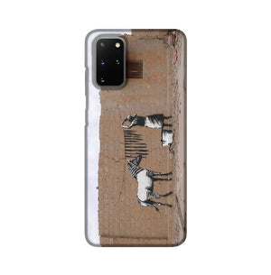 Banksy Washing Zebra Stripes Phone Case Samsung S20 Plus