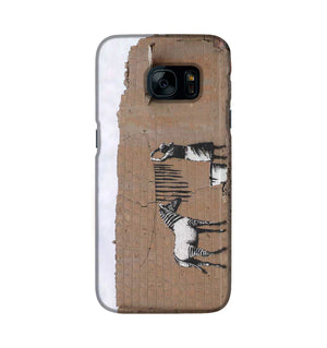 Banksy Washing Zebra Stripes Phone Case Samsung S7