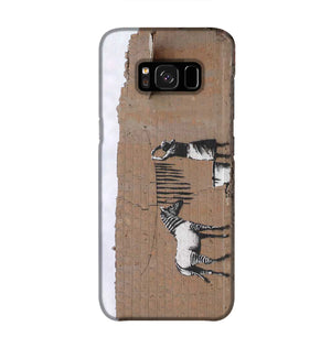 Banksy Washing Zebra Stripes Phone Case Samsung S8