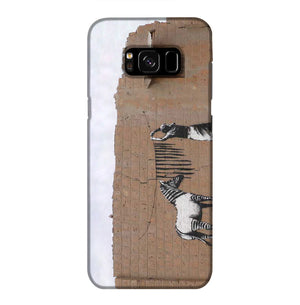Banksy Washing Zebra Stripes Phone Case Samsung S8 Plus