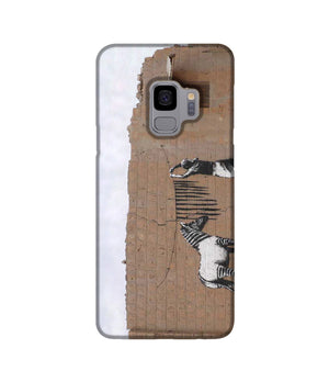 Banksy Washing Zebra Stripes Phone Case Samsung S9