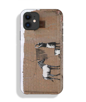 Banksy Washing Zebra Stripes Phone Case iPhone 11