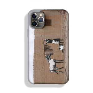 Banksy Washing Zebra Stripes Phone Case iPhone 11 Pro