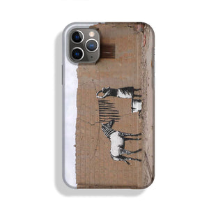 Banksy Washing Zebra Stripes Phone Case iPhone 11 Pro Max
