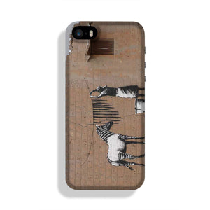 Banksy Washing Zebra Stripes Phone Case iPhone 5