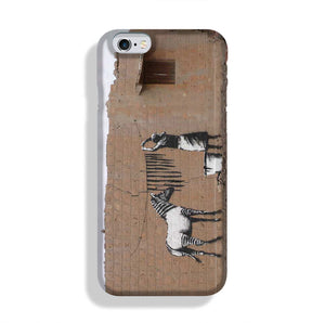 Banksy Washing Zebra Stripes Phone Case iPhone 6