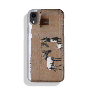 Banksy Washing Zebra Stripes Phone Case iPhone XR