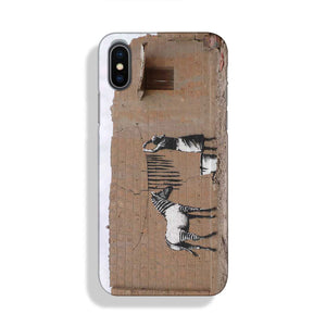 Banksy Washing Zebra Stripes Phone Case iPhone XS Max