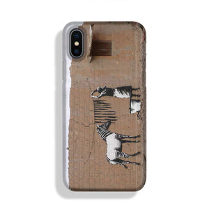 Banksy Washing Zebra Stripes Phone Case iPhone X/XS