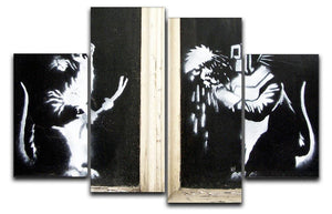 Banksy Welding Rats 4 Split Panel Canvas  - Canvas Art Rocks - 1