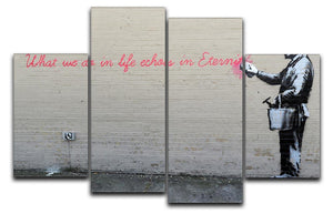 Banksy What We Do In Life 4 Split Panel Canvas  - Canvas Art Rocks - 1