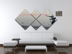 Banksy What We Do In Life 4 Square Multi Panel Canvas - Canvas Art Rocks - 3
