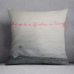 Banksy What We Do In Life Cushion