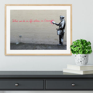 Banksy What We Do In Life Framed Print - Canvas Art Rocks - 3