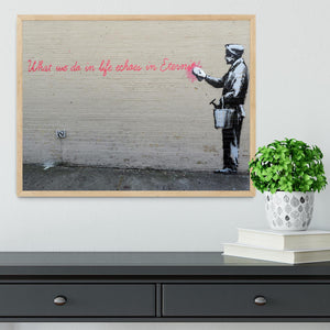 Banksy What We Do In Life Framed Print - Canvas Art Rocks - 4