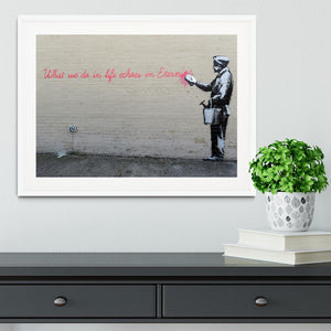 Banksy What We Do In Life Framed Print - Canvas Art Rocks - 5