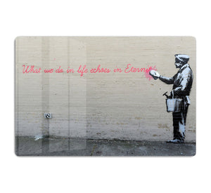 Banksy What We Do In Life HD Metal Print