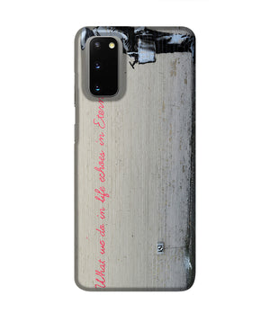 Banksy What We Do In Life Phone Case Samsung S20