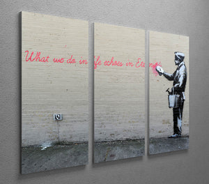 Banksy What We Do In Life 3 Split Canvas Print - Canvas Art Rocks