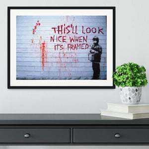 Banksy When Its Framed Framed Print - Canvas Art Rocks - 1