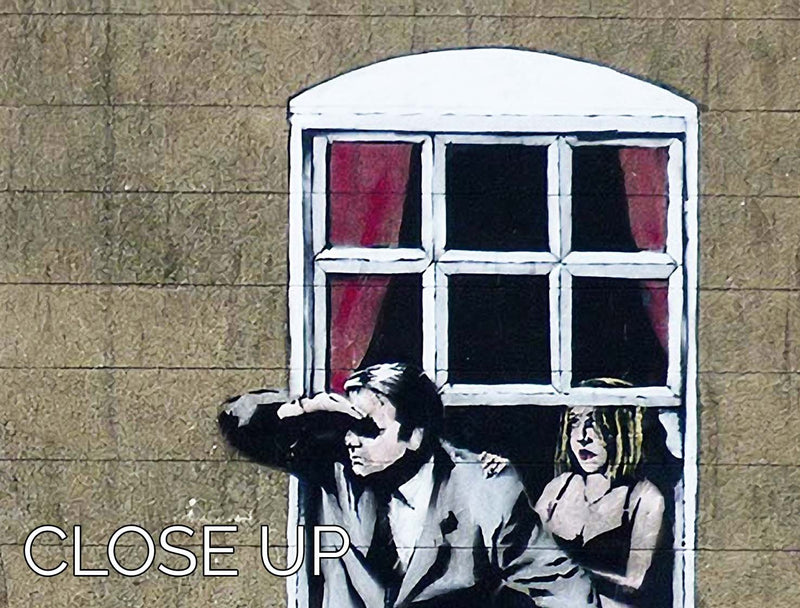 Banksy Window Lovers 3 Split Panel Canvas Print - Canvas Art Rocks - 3