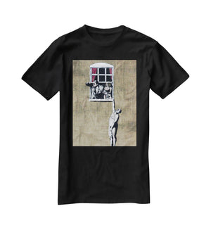 Banksy Window Lovers T-Shirt - Canvas Art Rocks - 1