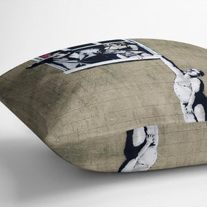 Banksy Window Lovers Cushion