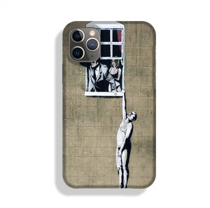 Banksy Window Lovers Phone Case iPhone 11 Pro
