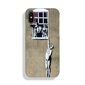 Banksy Window Lovers Phone Case iPhone XS Max