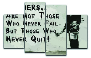 Banksy Winners Are Not 4 Split Panel Canvas  - Canvas Art Rocks - 1