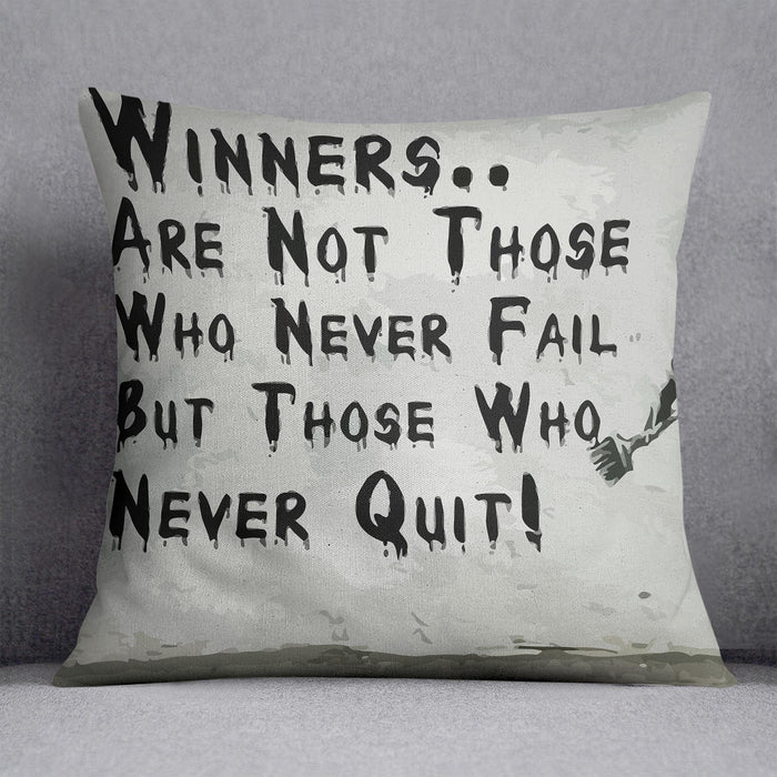 Banksy Winners Are Not Cushion