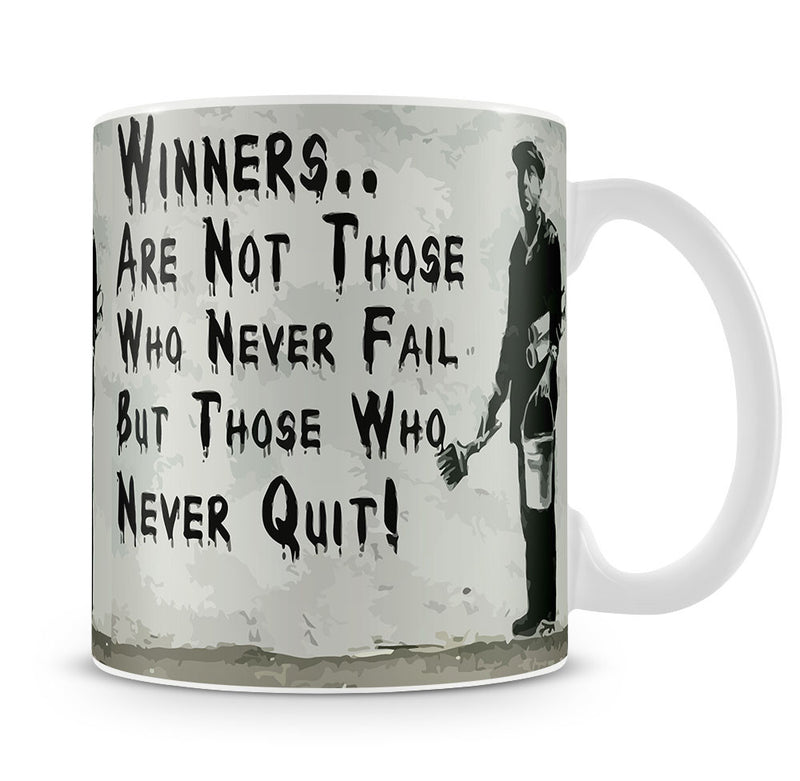 Banksy Winners Are Not Mug - Canvas Art Rocks