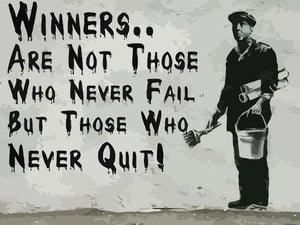 Banksy Winners Are Not Wall Mural Wallpaper - Canvas Art Rocks - 1