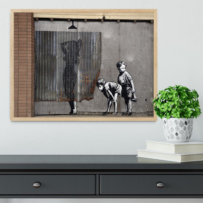 Banksy Woman In Shower Framed Print - Canvas Art Rocks - 4