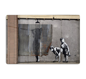 Banksy Woman In Shower HD Metal Print