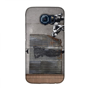Banksy Woman In Shower Phone Case Samsung S6