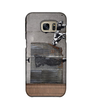 Banksy Woman In Shower Phone Case Samsung S7 Edge