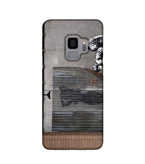 Banksy Woman In Shower Phone Case Samsung S9