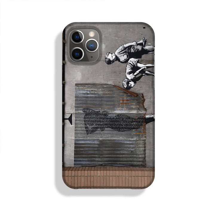 Banksy Woman In Shower Phone Case
