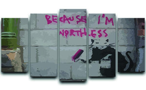 Banksy Worthless Rat 5 Split Panel Canvas  - Canvas Art Rocks - 1