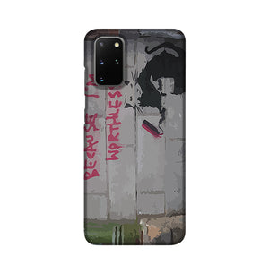 Banksy Worthless Rat Phone Case Samsung S20 Plus