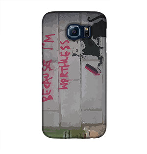 Banksy Worthless Rat Phone Case Samsung S6