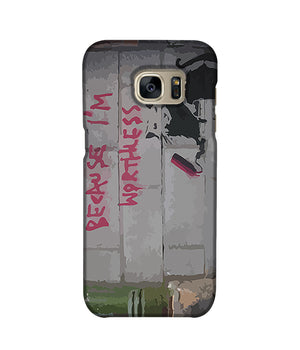 Banksy Worthless Rat Phone Case Samsung S7 Edge