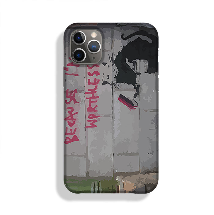 Banksy Worthless Rat Phone Case