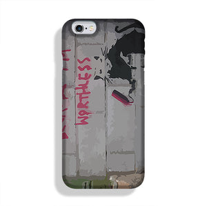 Banksy Worthless Rat Phone Case iPhone 6