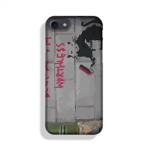 Banksy Worthless Rat Phone Case iPhone XE