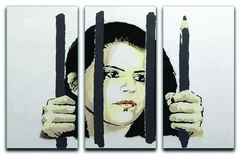 Banksy Zehra Dogan New York 3 Split Panel Canvas Print - Canvas Art Rocks - 1