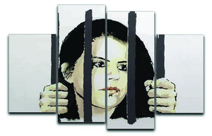 Banksy Zehra Dogan New York 4 Split Panel Canvas  - Canvas Art Rocks - 1